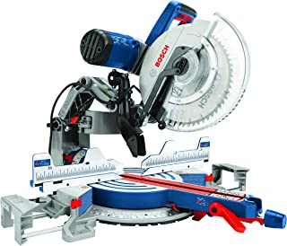 BOSCH Power Tools GCM12SD - 15 Amp 12 Inch Corded Dual-Bevel Sliding Glide Miter Saw with 60 Tooth Saw Blade , Blue