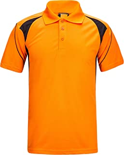 07b267d8a ZITY Men's Polo Shirt Cool Quick-Dry Sweat-Wicking Color Block Short Sleeve  Sports