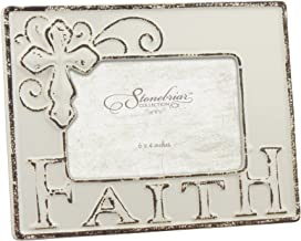 Stonebriar Faith Ceramic Frame, Ivory