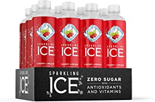 Sparkling Ice, Cherry Limeade Sparkling Water, with Antioxidants and Vitamins, Zero Sugar, 17 fl oz Bottles (Pack of 12)