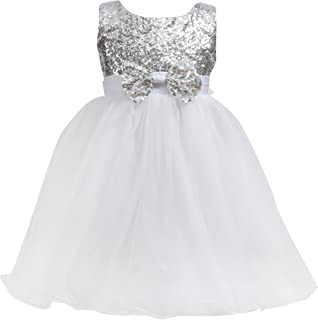 Merry Day Flower Girl Dress for Wedding Birthday Party Pageant,Fluffy Tulle with Sequin,Soft Lining No Itch,0-10T