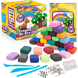 Creative Kids Air Dry Clay Modeling Crafts Kit For Children – Super Light Nontoxic..