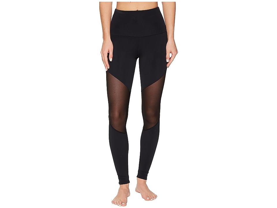 Onzie High-Rise Track Leggings (Black) Women