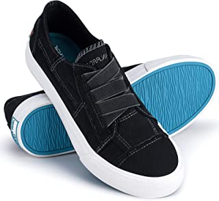 Womens Canvas Sneaker Shoes Fashion Slip on Low Tops Shoes Casual Shoes Comfortable