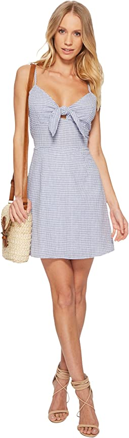J.O.A. Tie Front Sleeveless Dress