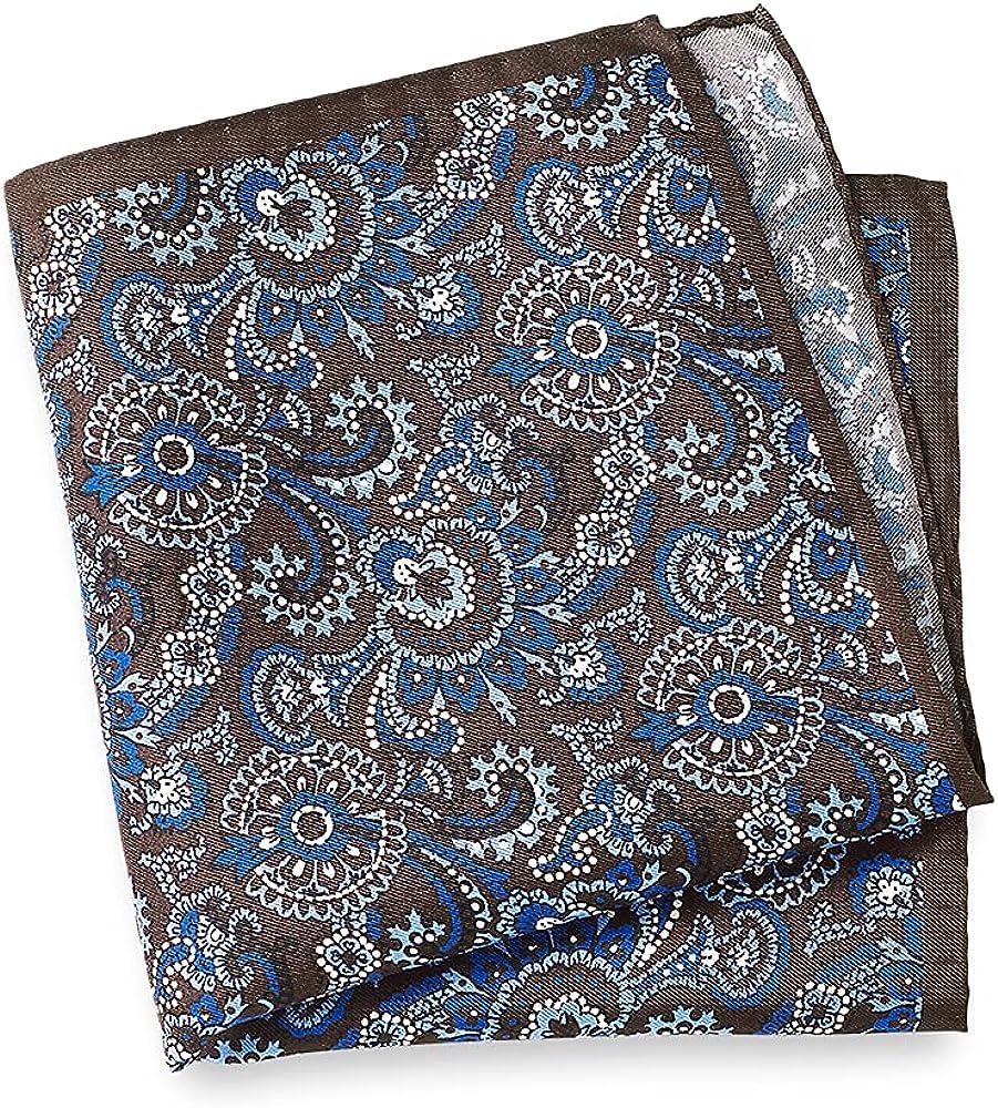 Paul Fredrick Men's Printed Silk Paisley Pocket Square