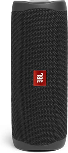 Portable JBL Flip 5 Portable Bluetooth Stereo Speaker with Bass Port, Black, (JBLFLIP5BLACK)