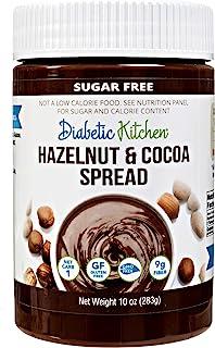 Diabetic Kitchen Sugar Free Hazelnut Cocoa Spread - Low Carb Chocolate Dessert Spread - Keto Treats & Snack...