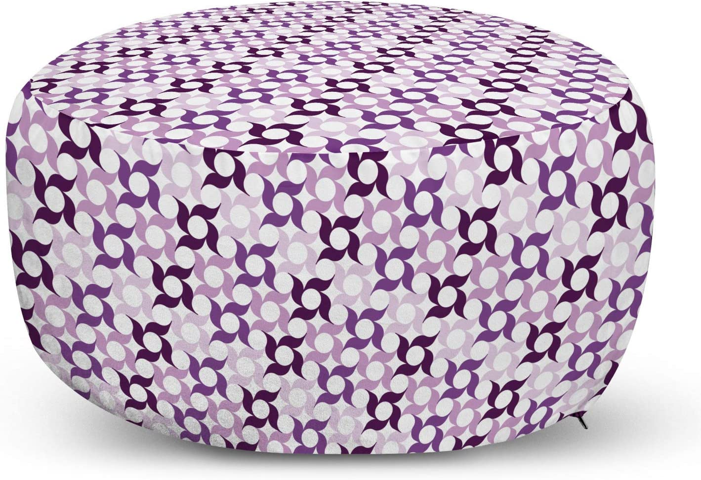 Max 41% OFF Ambesonne Pinwheel Pouf Max 80% OFF Cover with Flor Zipper Graphic Swirling