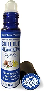 Anxiety relief & sleep essential oils roll on - sleep aid, natural perfume, stress relief on the go -10 mL -therapeutic grade - Chill Out Relaxing blend by Bliss Bound Wellness