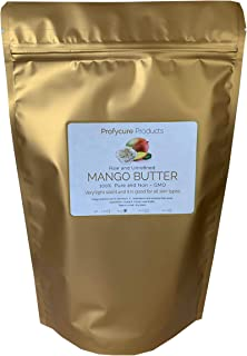 Mango Butter 16 oz (1 lb ) Natural Unrefined Pure 100% Raw , Moisturizing, Scent-free, Hexane-free Premium Grade for Soft ...