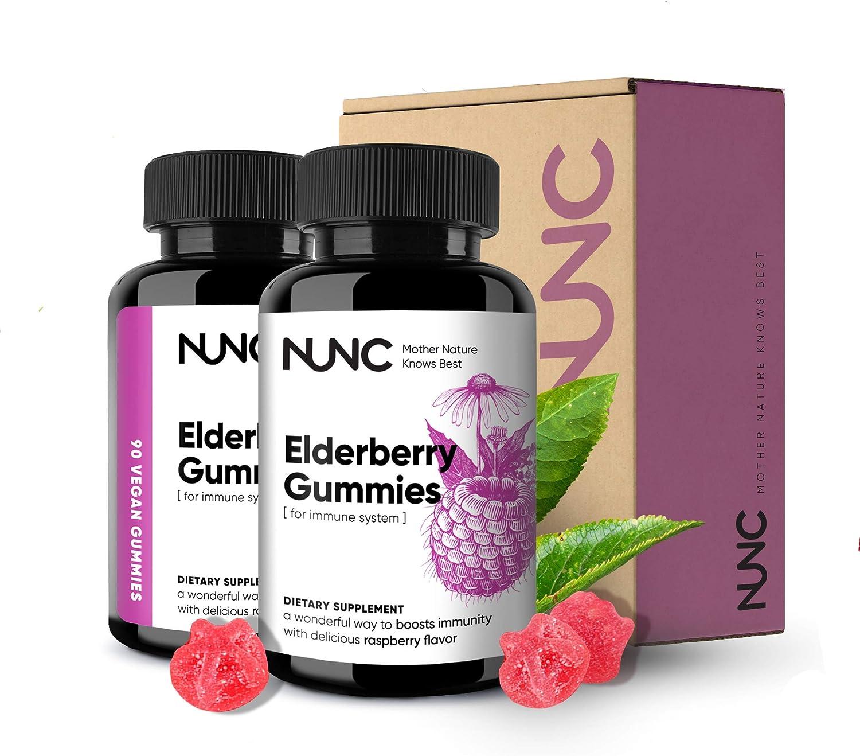 NUNC Elderberry Gummies - 2 Max 71% OFF – Dietary Flavo Large discharge sale Pack Supplement