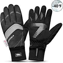 KINGSBOM Waterproof Warm Gloves - 3M Thinsulate Winter Touch Screen Thermal Gloves- for Cycling, Running, Riding, Outdoor Sports - for Women and Men – Black