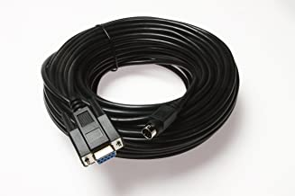Wirenest 75ft VISCA PTZ Camera Control Cable for Sony EVI/BRC/SRG Series RS232 8 Pin Mini DIN to DB9F Serial
