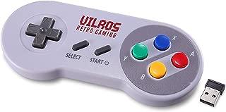 Vilros Retro Gaming SNES Classic Wireless USB Gamepad-Set of 2
