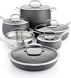 Belgique Hard Anodized 11 Piece Cookware Set Black