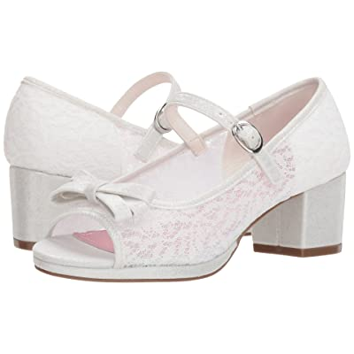 Jessica Simpson Kids Veda (Little Kid/Big Kid) (White Lace/Microsuede) Girl
