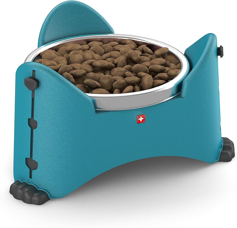 redho Mypet Adjustable Pet Bowl, 27.3 x 24 x 14.6 cm, Aqua