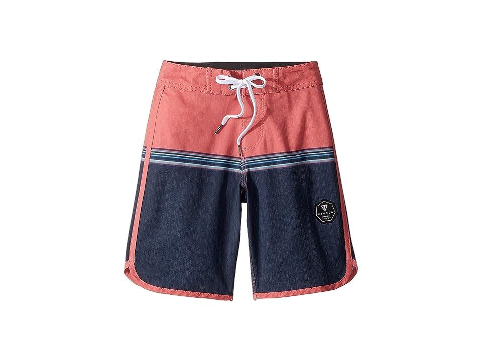 VISSLA Kids Dredges 4-Way Stretch Boardshorts 17 (Big Kids) (Plumeria) Boy