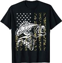 Fishing Tshirt Camouflage USA Flag for Bass Fisherman Gifts