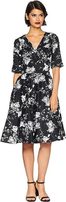 3/4 Sleeve Delores Swing Dress