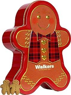 Walker's Shortbread Gingerbread Man Tin, 48 Mini Gingerbread Men Cookies
