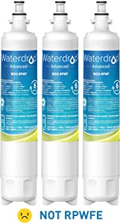Waterdrop NSF 53&42 Certified Refrigerator Water Filter, Compatible with GE RPWF(Not RPWFE), Advanced, Pack of 3