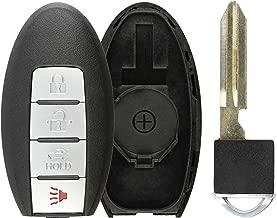 KeylessOption Keyless Entry Remote Smart Car Key Fob Shell Case Cover Valet Insert Blade