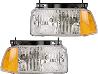 94 95 96 97 Compatible with GMC Jimmy/S15 Sonoma Headlight Headlamp Composite Halogen Front Head Light Lamp Set Pair Left Driver And Right Passenger Side