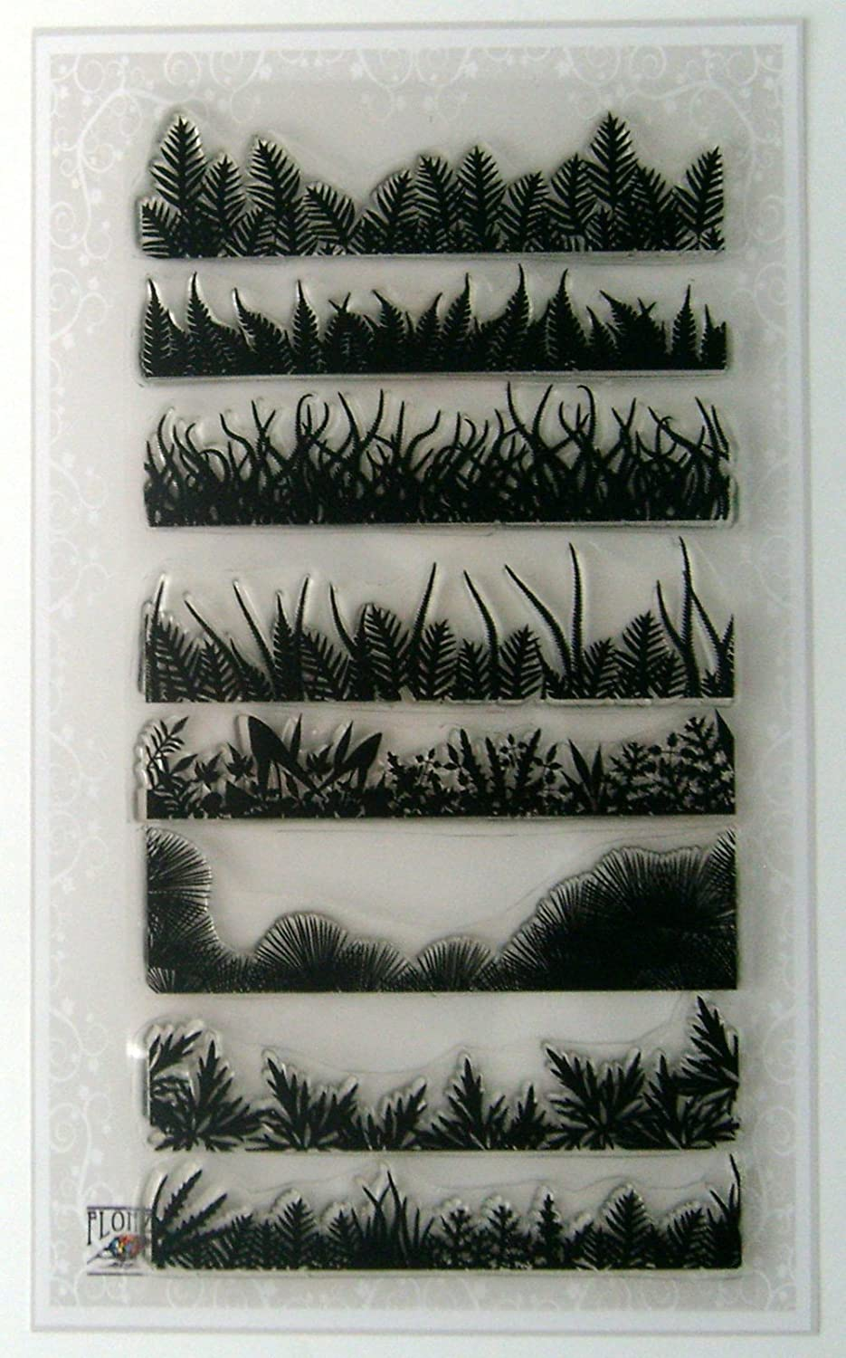 Grass and Fern Low price Borders Set Clear Stamps