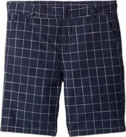 Navy Checkered Shorts (Toddler/Little Kids/Big Kids)