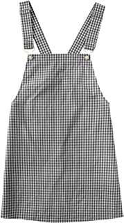 black and white plaid overalls