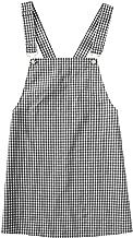 Floerns Women's Gingham Suspender Overall Pinafore Short Dress