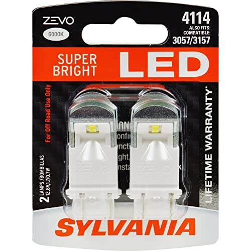 SYLVANIA - 4114 ZEVO LED White Bulb - Bright LED Bulb, Ideal for Daytime Running