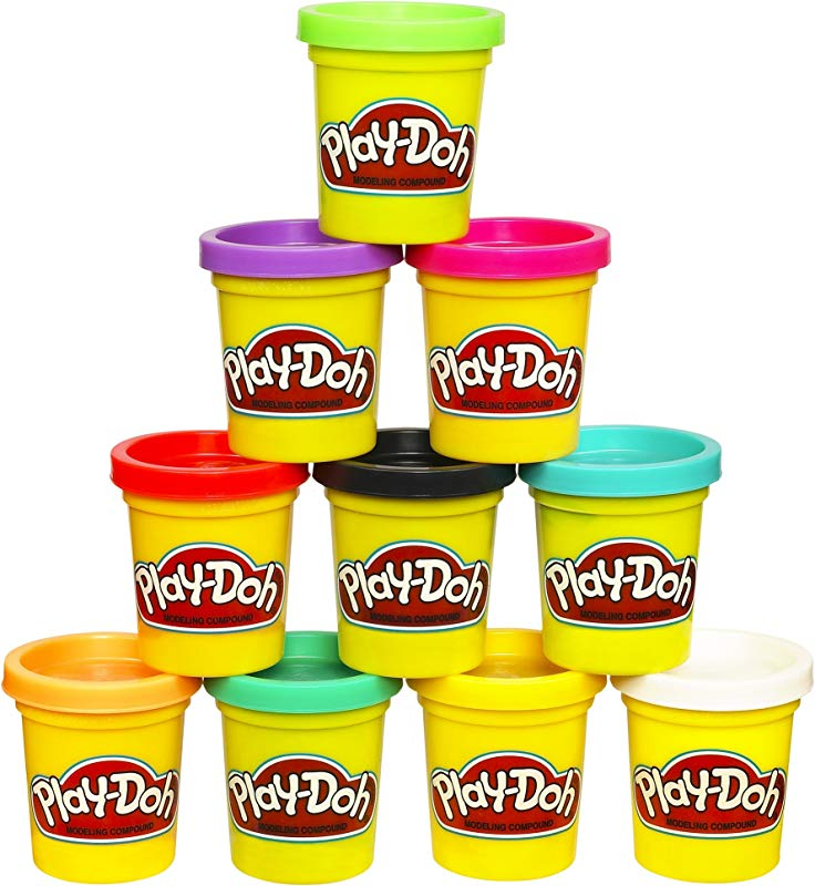 Play Doh Modeling Compound 10 Pack Case Of Colors Non Toxic Assorted Colors 2 Ounce Cans Ages 2 And Up Amazon Exclusive