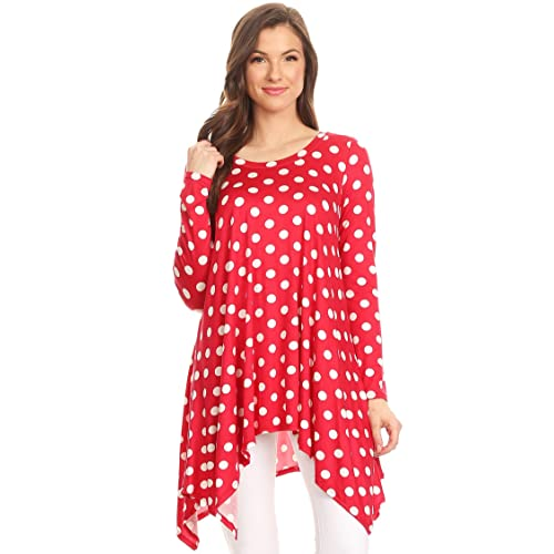 4ea12f5a376 Women's Solid Casual Loose Fit Round Neck Long Sleeves Tunic Top Tee Dress/Made  in