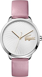 Lacoste Women's Lexi Quartz Stainless Steel and Leather Strap Strap Casual Watch, Color: Pink (Model: 2001057)