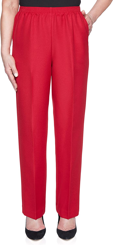 Alfred Dunner Petite Women's Classic Textured Short Length Pant