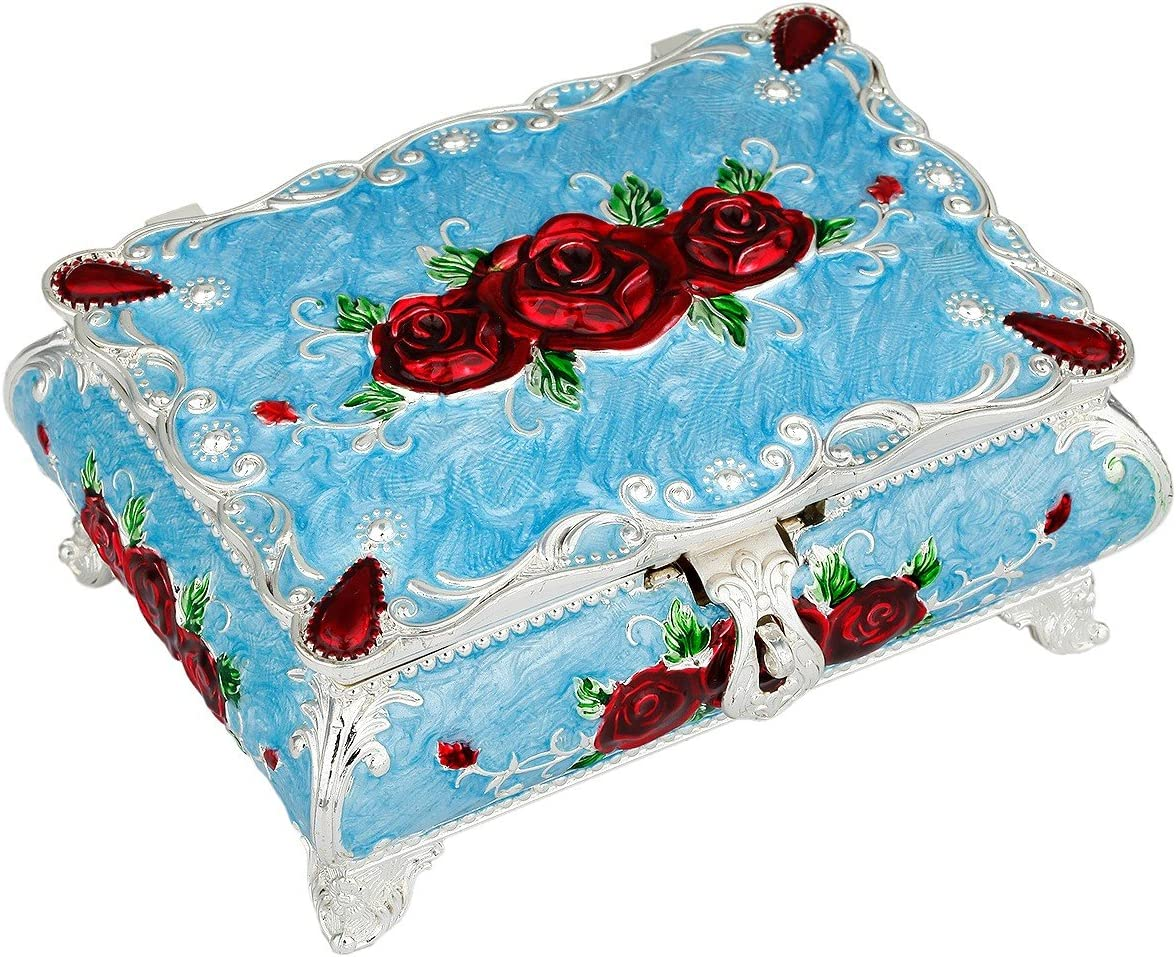 Retro Tarina Kitty Lilac Wood Jewelry Box Keepsake Box Trinket Box