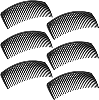 6 Packs French Twist Comb, SourceTon Plastic Side Hair Combs with 29 Teeth Hair Comb Hair Clip Combs for Fine Hair Accesso...