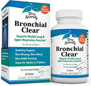 Terry Naturally Bronchial Clear - 90 Tablets - Soothing Lung & Upper Respiratory Function Support Supplement, Non-Drowsy, ...