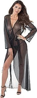 Dreamgirl Women's Sexy Metallic Sheer Robe