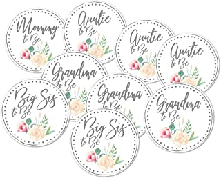 Baby Shower Mommy to Be Grandma, Big Sister, Aunt Button Favors Set of 9