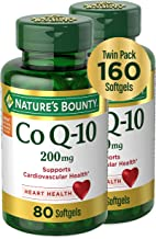CoQ10 by Nature's Bounty, Dietary Supplement, Supports Heart Health, 200mg Twin Pack, 160 Softgels