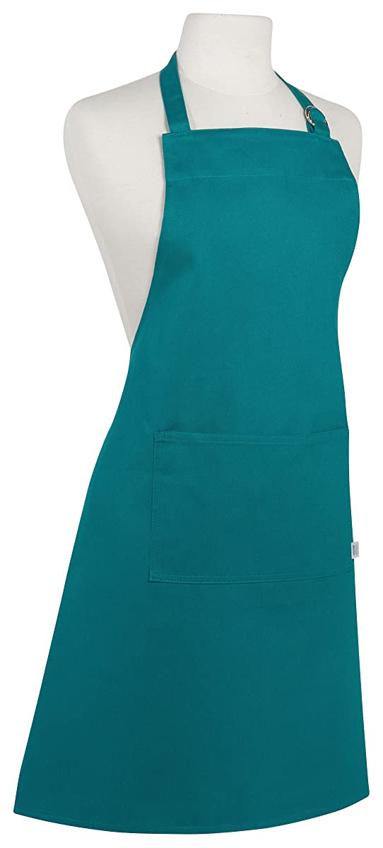 Now Designs Basic Cotton Kitchen Chef's Apron, Peacock Green,