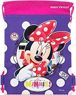 Disney Minnie Mouse Authentic Licensed Drawstring Bag Backpack