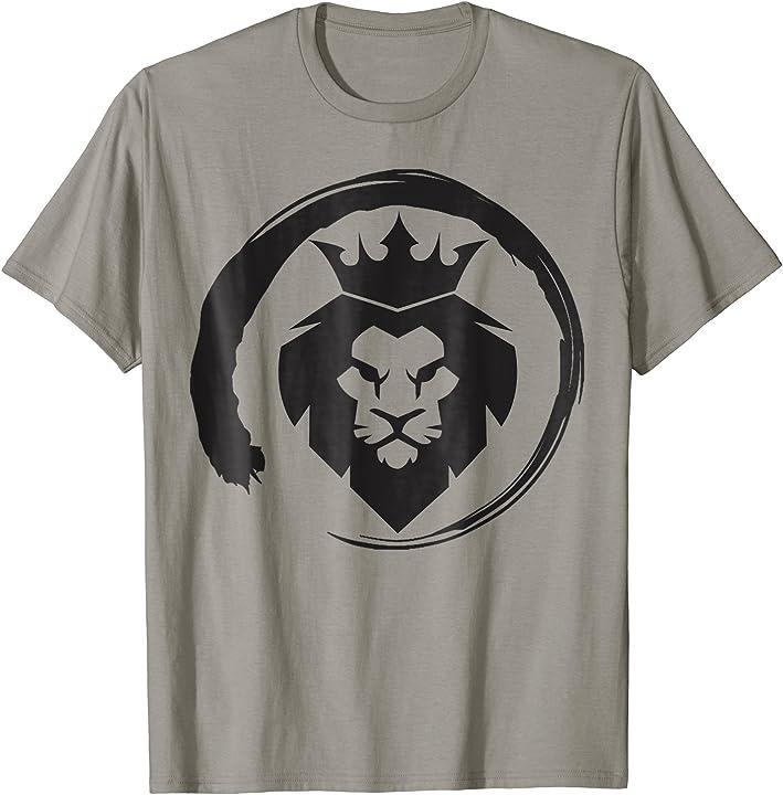 King Lion Crown Circle T-Shirt - King of the Jungle TShirt