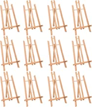 """MEEDEN 16"""" Tall Tabletop Easel - 12PCS Medium Tabletop Display Solid Beech Wood Easel, for Kids Artist Adults Classroom/Pa..."""