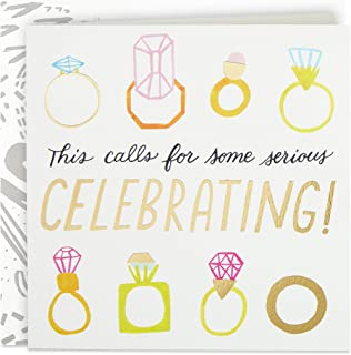 Hallmark Good Mail Wedding Card, Bridal Shower Card, Engagement Card (Rings)