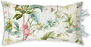 PIP Studio Coussin décoratif Palm Scenes Cushion White 35 x 60 cm